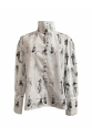 Sketch Patterned White Shirt