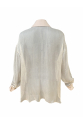Light Pink Powder Color Transparent Silk Shirt