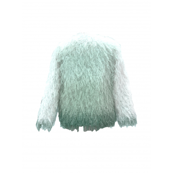 Uzbek Detailed Mint Green Eco-Fur