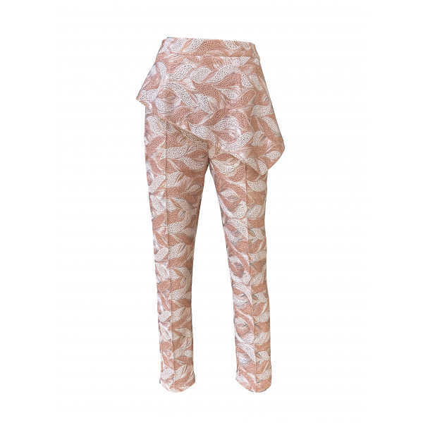 Embroidery Detailed Pink Trousers Embroidery Detailed Pink Trousers