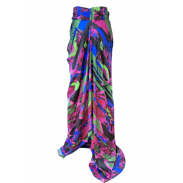 Cut-Out Detailed Long Silk Skirt Cut-Out Detailed Long Silk Skirt