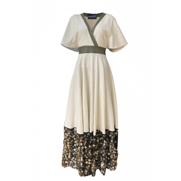Sequin Detailed Long White Dress Sequin Detailed Long White Dress