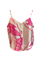 Pink Tile Patterned Strappy Top