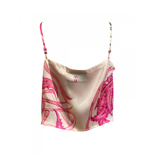 Pink Tile Patterned Strappy Top Pink Tile Patterned Strappy Top
