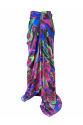 Cut-Out Detailed Silk Skirt