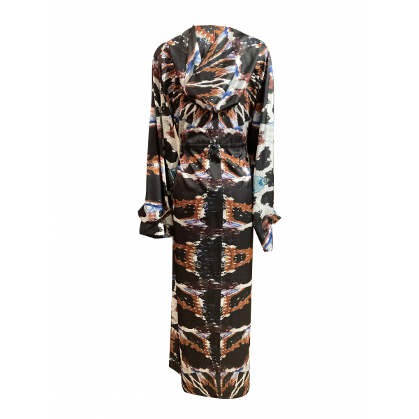 Patterned Kimono with Hood
