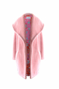 Pink Plush Coat with Back Embroidery Detailed