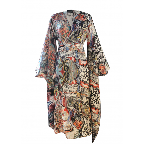 Silk Gaudi Kimono Dress Silk Gaudi Kimono Dress