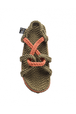 NOMADIC STATE OF MIND Nomadic State of Mind - Mountain Momma Sage-Pumpkin Hasır İp Sandalet