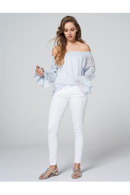 BRAEZ BRAEZ - Bianca Aqua Bluz