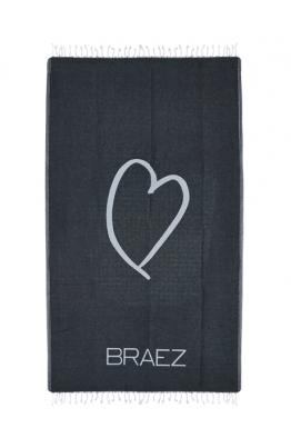 BRAEZ BRAEZ - Heart Siyah Havlu