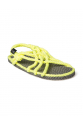 Nomadic State of Mind - JC Gri-Neon Sarı Hasır İp Sandalet