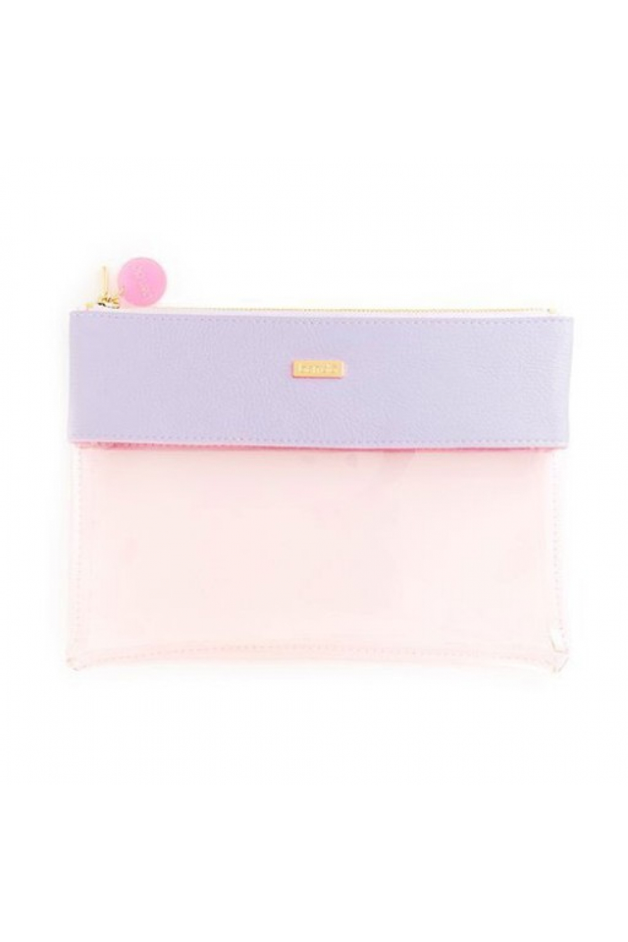peekaboo clutch, lilac