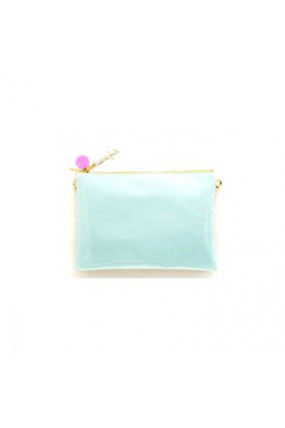 peekaboo clutch, summer mint