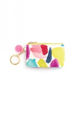 zip zip keychain pouch, brushstrokes