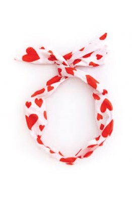 BAN.DO twist scarf, extreme supercute hearts