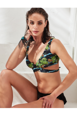 LESS IS MORE SWİMWEAR LESS IS MORE - Zoe Bikini Üstü Tiger