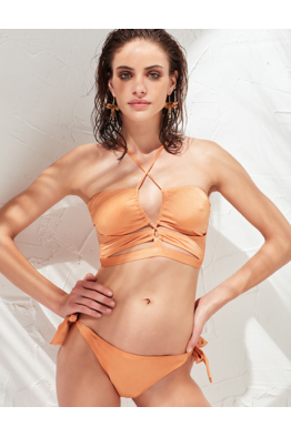 LESS IS MORE SWİMWEAR LESS IS MORE - Bella Bikini Üstü Bronze