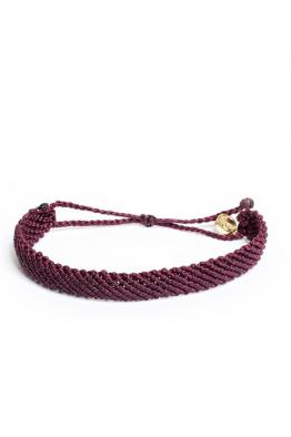 Pura Vida Bracelets Flat Braided - Purple Satin Bileklik