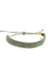 Flat Braided Yeşil Bileklik