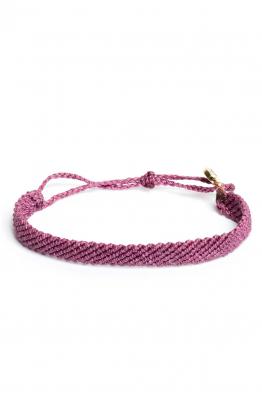 Pura Vida Bracelets Flat Braided - Fuchsia Bileklik