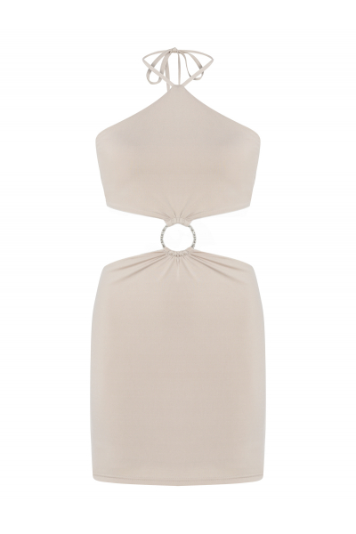 SANGRİA Dress (Light Beige)