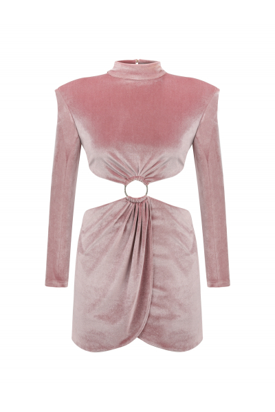 MOJİTO High Neck Dress (Pink)