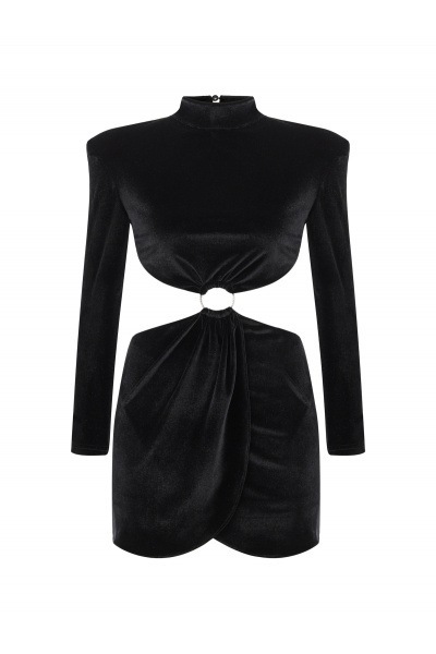 MOJİTO High Neck Dress (Black)
