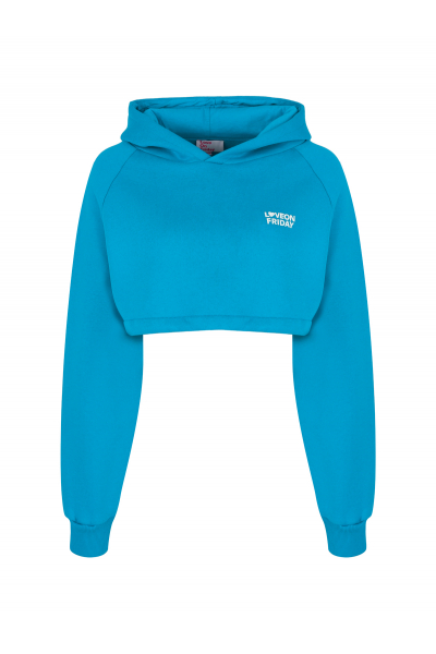 DREAM Cropped Hoodie (Blue)