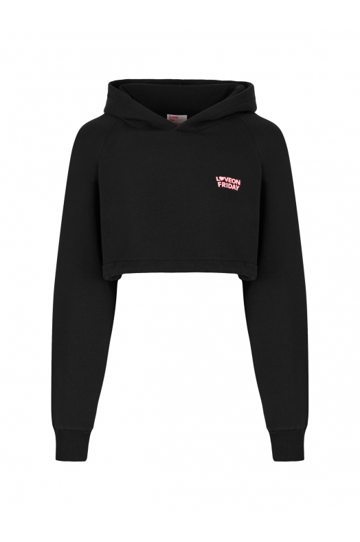 DREAM Cropped Hoodie (Black)