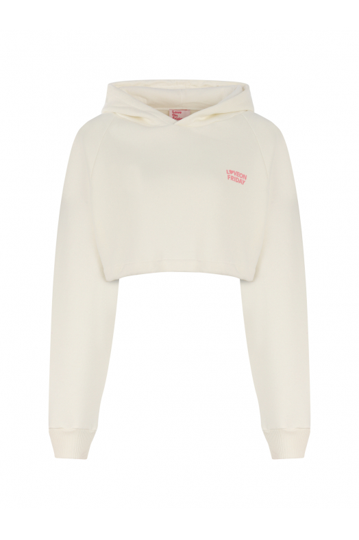 DREAM Cropped Hoodie (White)