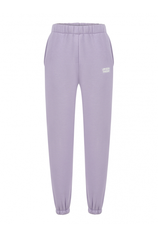 MOON High Waist Sweatpants (Lilac)