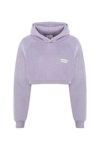 MOON Cropped Hoodie (Lilac)