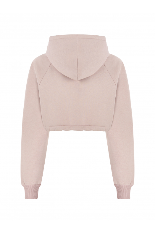 MOON Cropped Hoodie (Faded Pink)