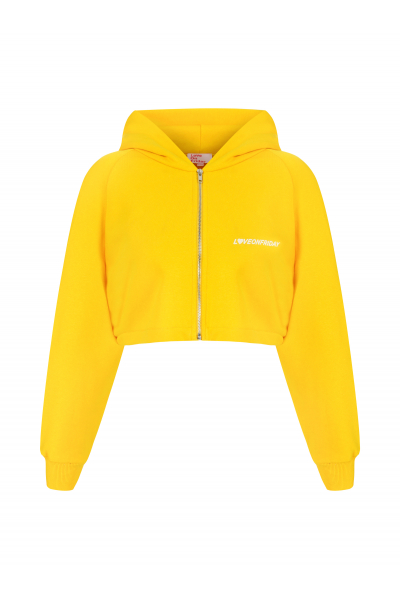 SUNSET Cropped Hoodie (Pineapple Yellow)