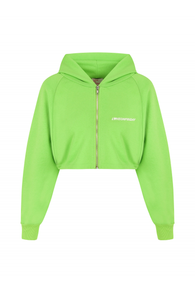 SUNSET Cropped Hoodie (Kelly Green)