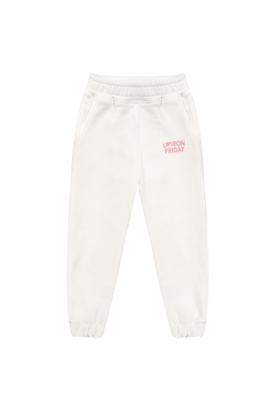 RAINBOW Kids Sweatpants (White)