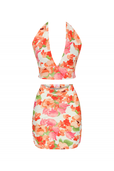 KAI Top in Sunset Floral