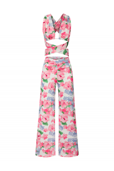LALA Pants in Pink Floral