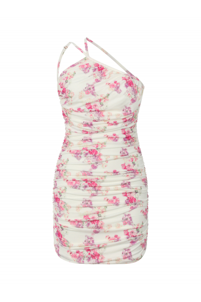 PARADISE Backless Dress in Lavender Floral