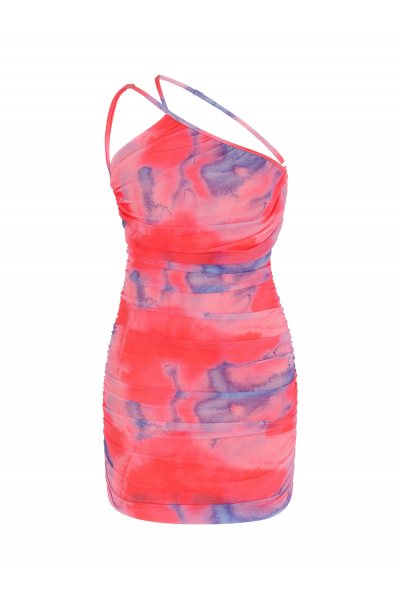 PARADISE Backless Dress in Candy Tie Dye