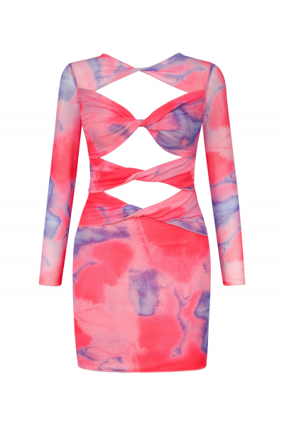 PEARL Dress in Candy Tie Dye