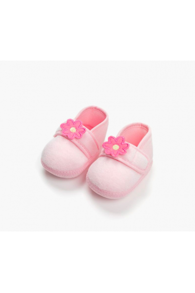 Pembe Çiçekli Ayakkabı