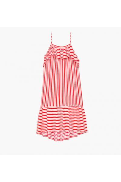 Kırmızı Çizgili Elbise