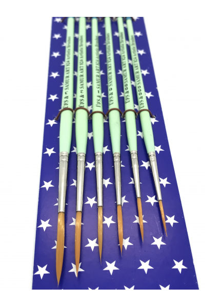 Samur Art 824 Sanatsal 6'lı Fırça Seti