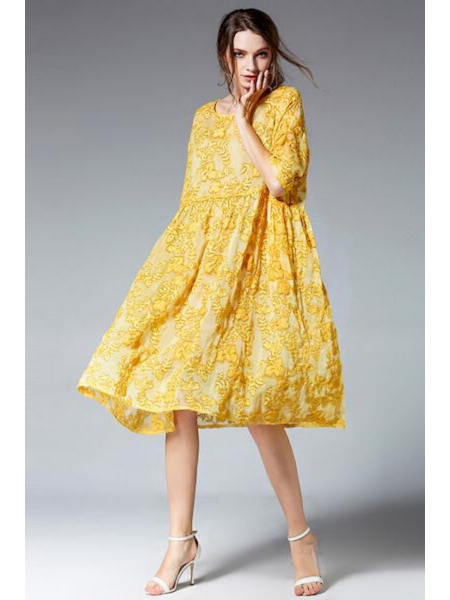 FLOWER YELLOW DRESS