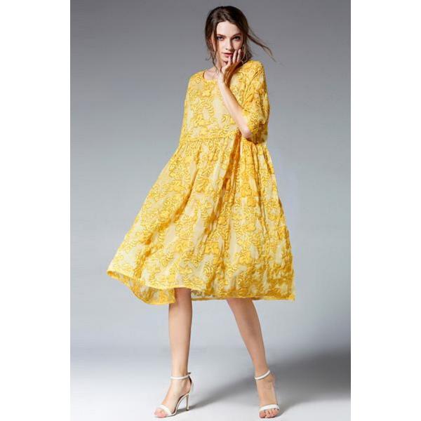 FLOWER YELLOW DRESS FLOWER YELLOW DRESS