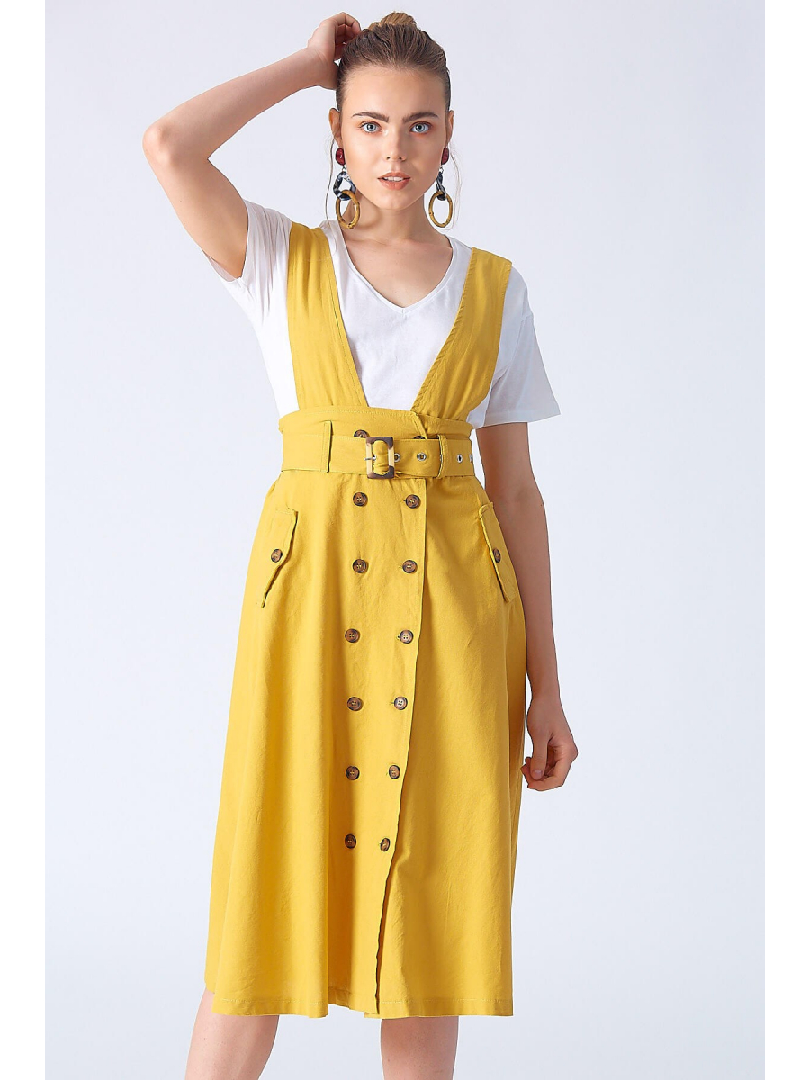 COUNTRY YELLOW DRESS