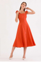 Rust Orange Dress