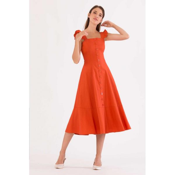 Rust Orange Dress Rust Orange Dress